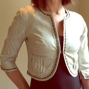 Silver toned metallic dress jacket